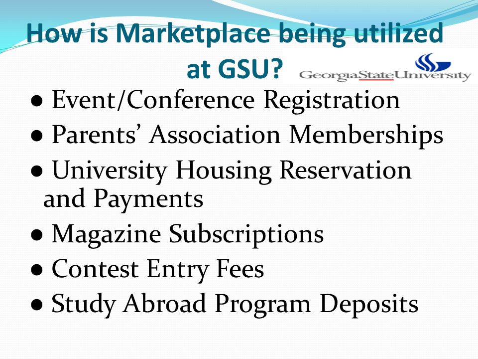 How is Marketplace being utilized at GSU.