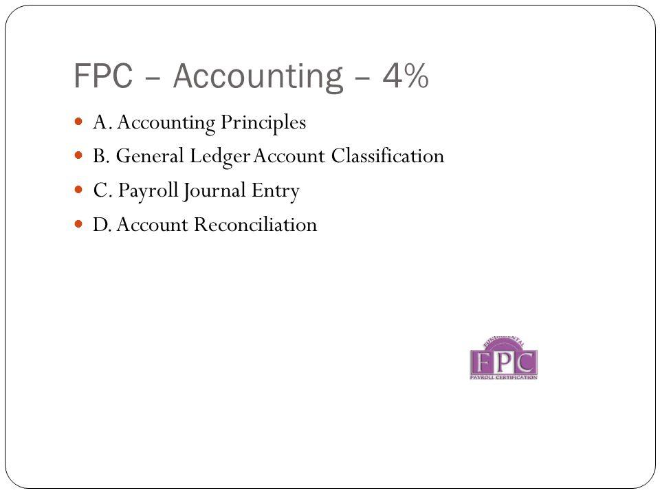 FPC – Accounting – 4% A. Accounting Principles B.