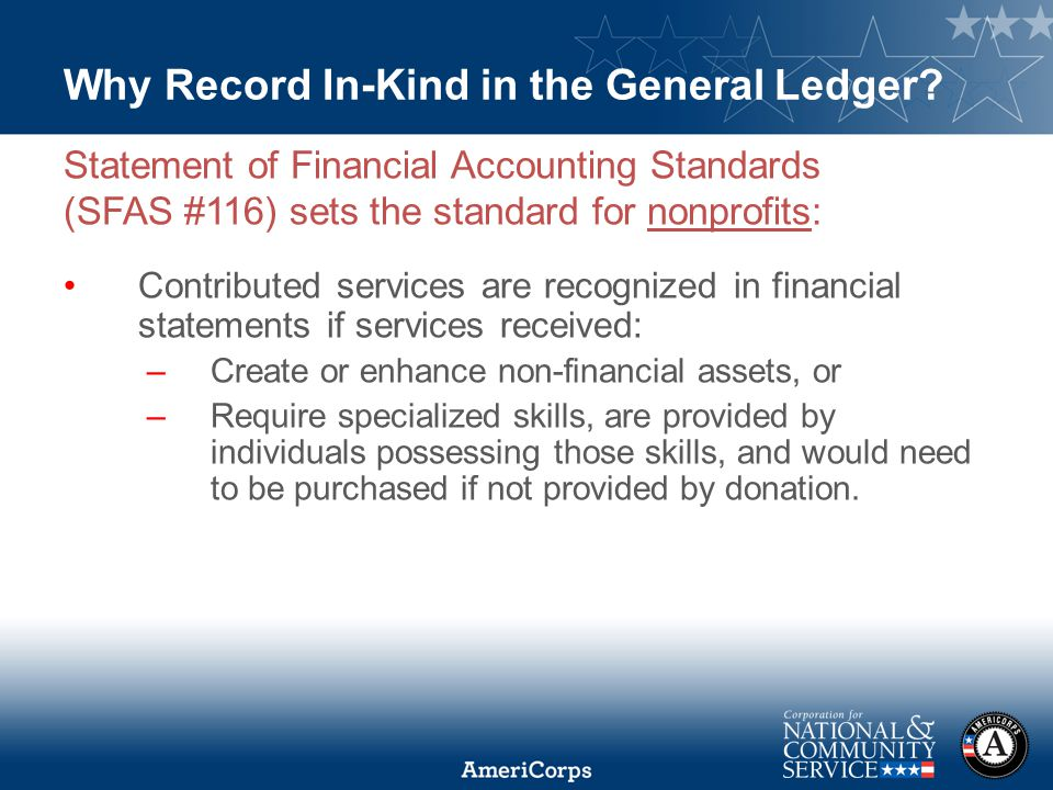 Why Record In-Kind in the General Ledger.