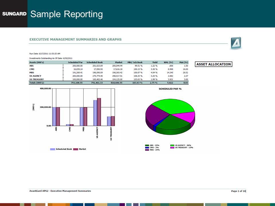 Sample Reporting