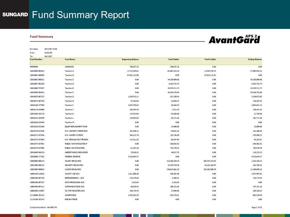 Fund Summary Report