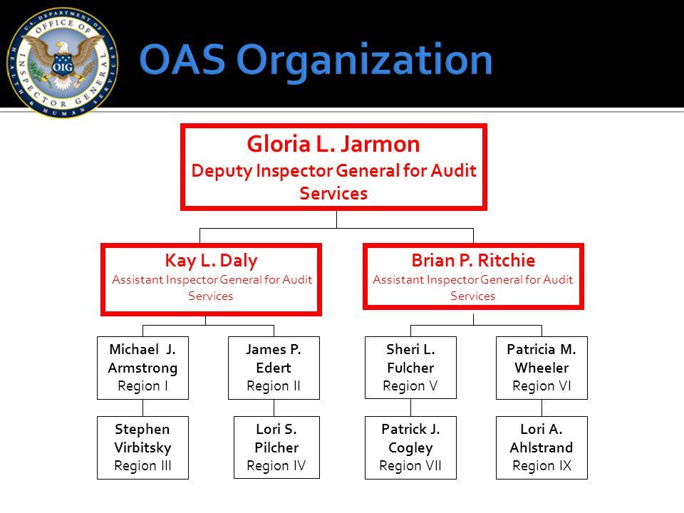 Gloria L.Jarmon Deputy Inspector General for Audit Services Michael J.