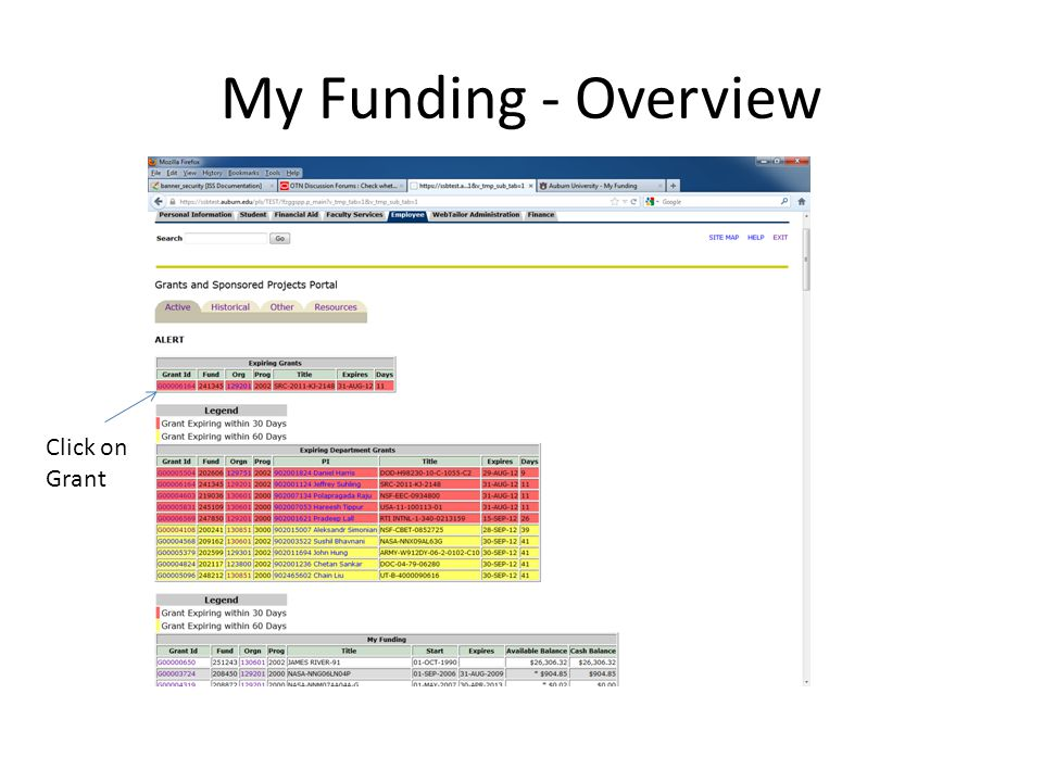 Questions / Concerns myfunding@auburn.edu Website for my funding goes here
