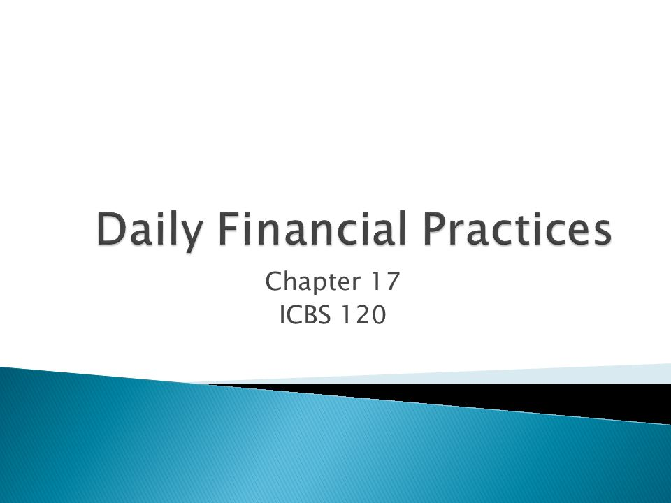 Chapter 17 ICBS 120