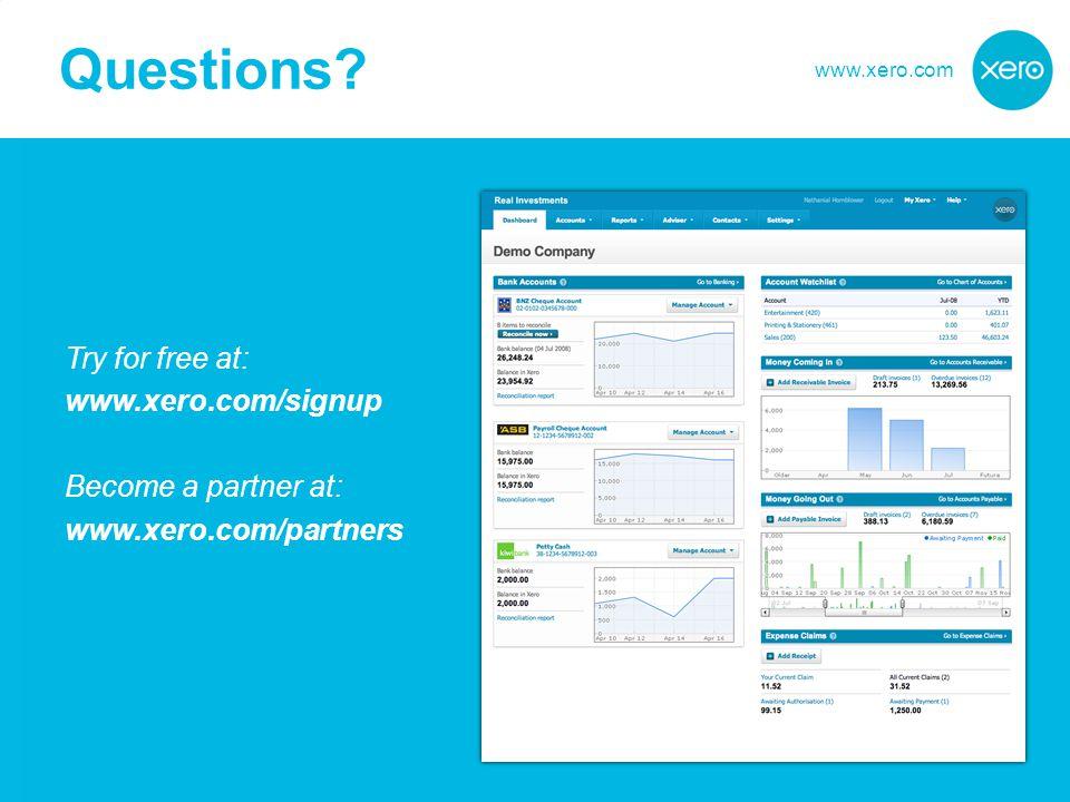 www.xero.com Questions.
