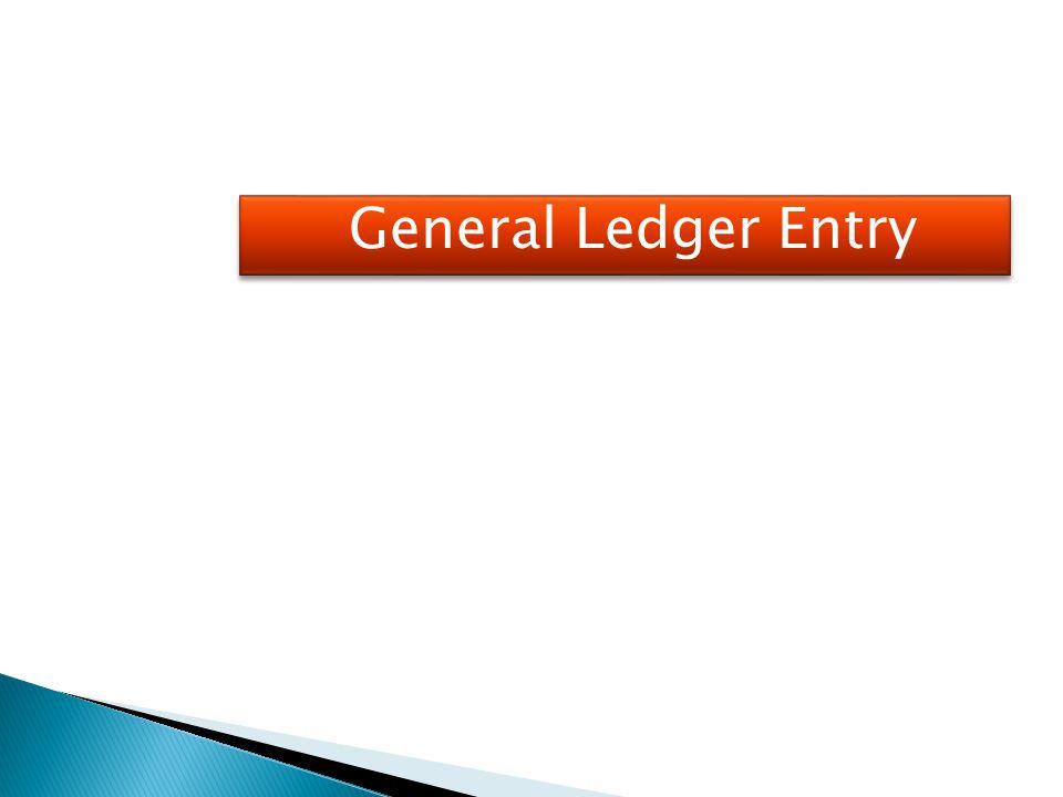 General Ledger Entry