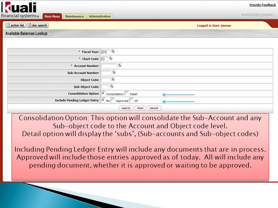 This report will display Fiscal YearOrganization Reference Id Cart CodeReference Document Type Code Account Number Reference Origin Code Sub-Account NumberReference Document Number Object CodePending Entry Approved Indicator Sub-Object Code Balance Type Code Object Type Code Fiscal Period Document Type Origin Code Document Number Transaction Ledger Entry Description Transaction Ledger Entry Amount Debit / Credit Code Transaction Date Organization Document Number Project Code Purpose: To display an original entry / document.