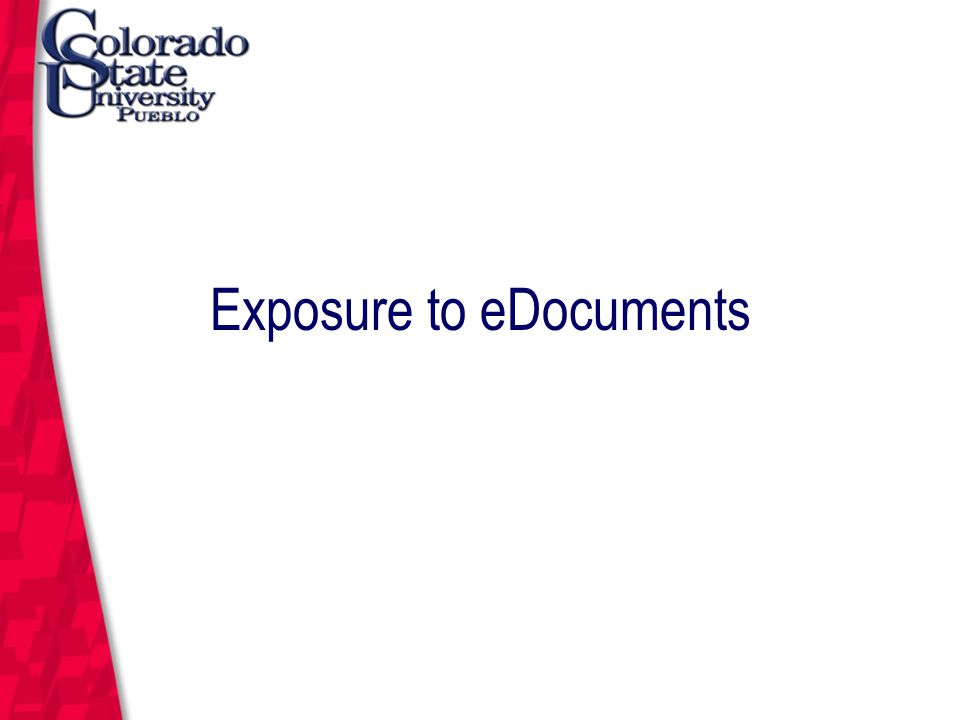 March 12, 2004 Exposure to eDocuments