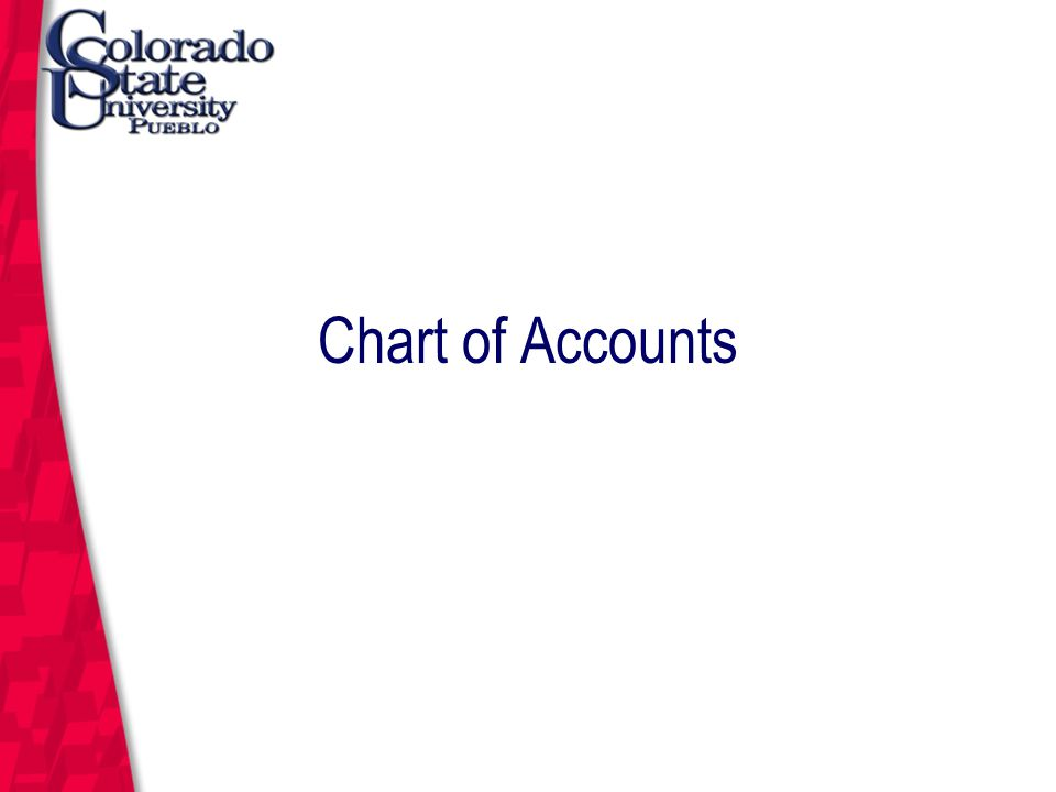 March 12, 2004 Chart of Accounts