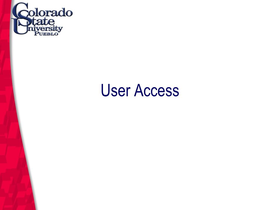 March 12, 2004 KFS User Access All users must complete this basic training session to gain access to KFS.