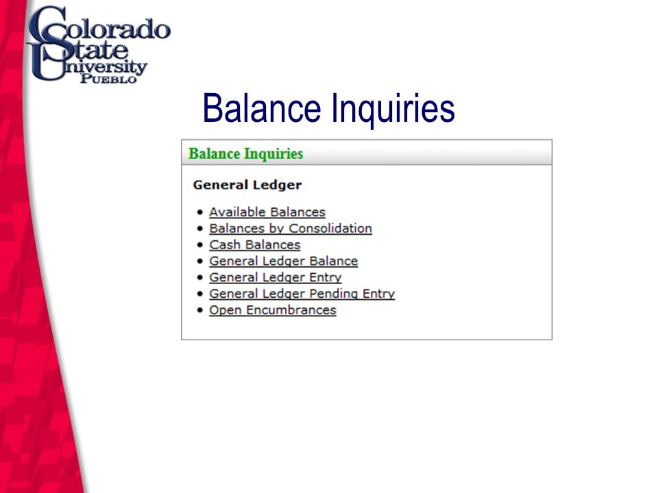 March 12, 2004 Balance Inquiries