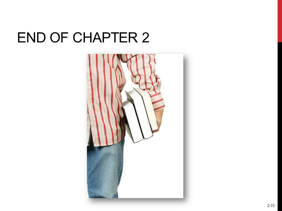 2-33 END OF CHAPTER 2