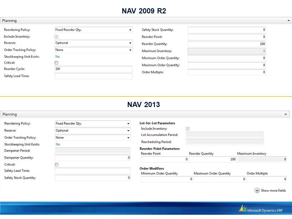 NAV 2009 R2 NAV 2013