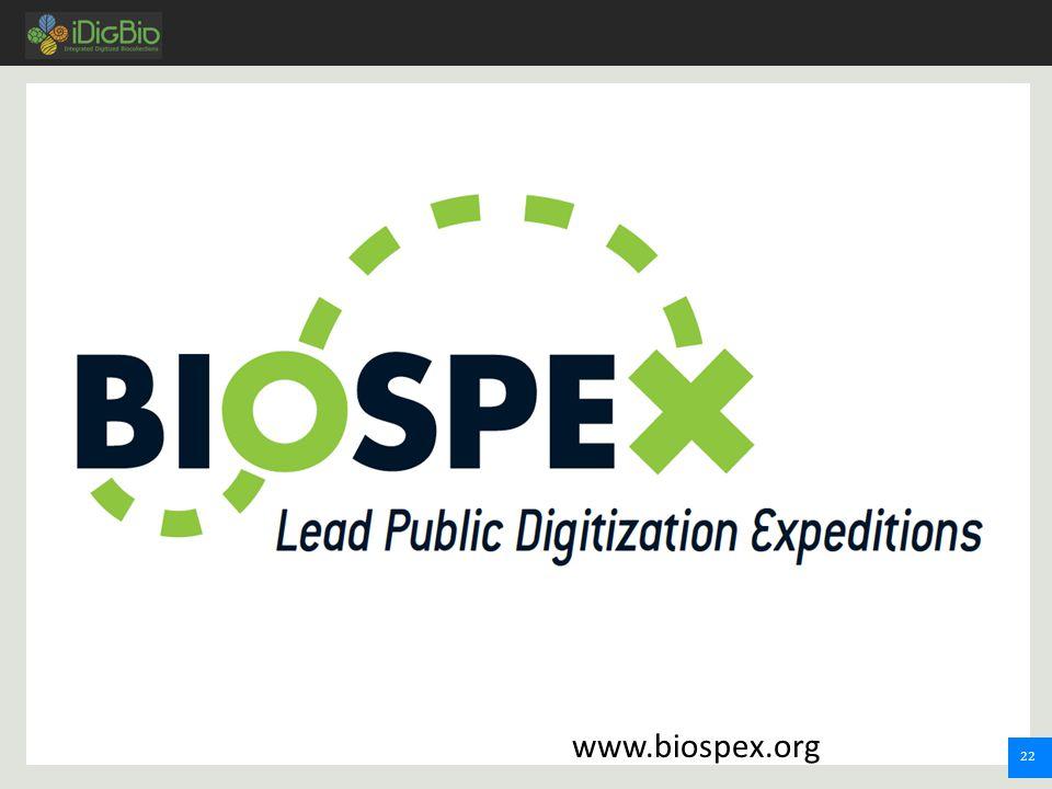 22 www.biospex.org