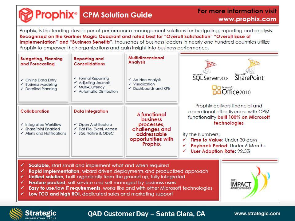 QAD Customer Day – Santa Clara, CA