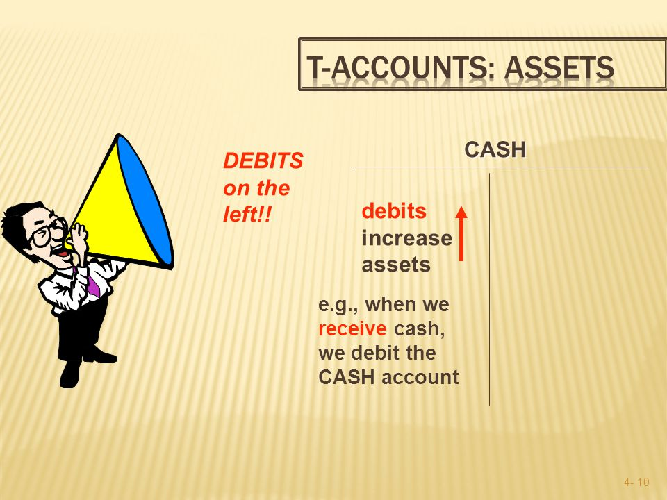 4- 9 The T account is a shorthand used by accountants to analyze transactions.