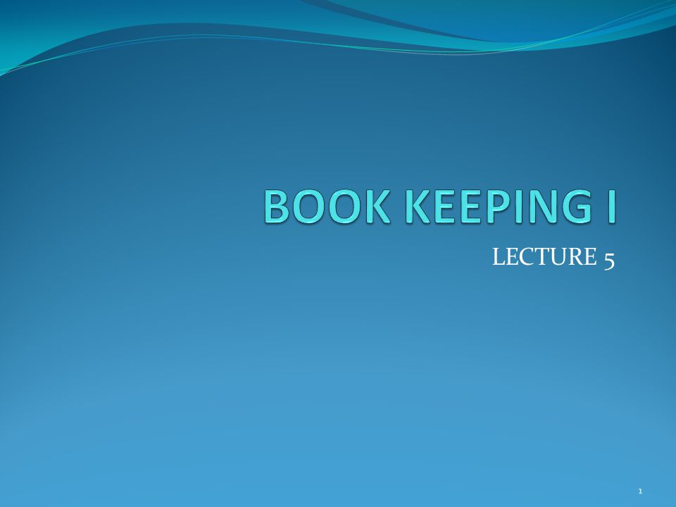 LECTURE 5 1