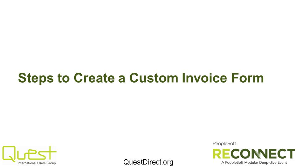 QuestDirect.org Steps to Create a Custom Invoice Form