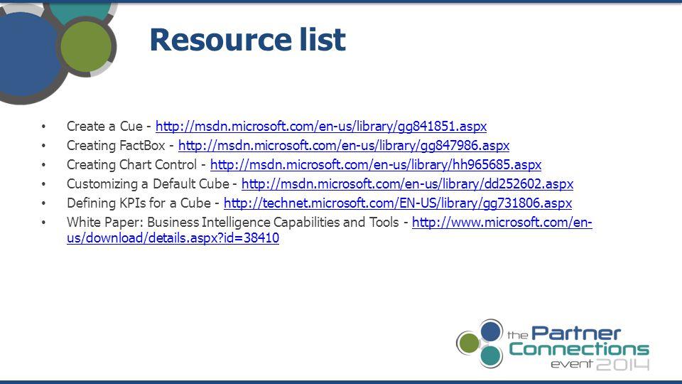 Create a Cue - http://msdn.microsoft.com/en-us/library/gg841851.aspxhttp://msdn.microsoft.com/en-us/library/gg841851.aspx Creating FactBox - http://ms