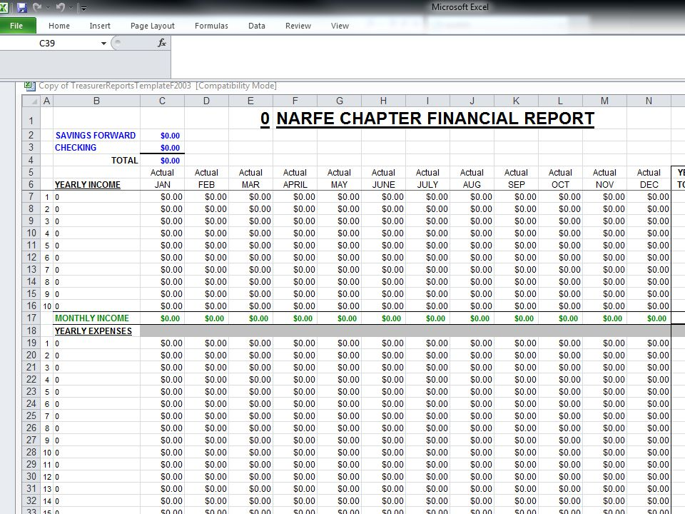 F-38 Financial Report-Excel Form