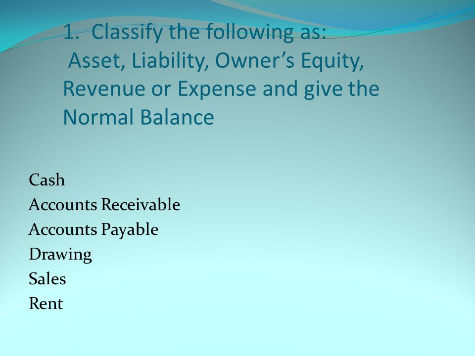 31.Assets are what you owe and liabilities are what you own.