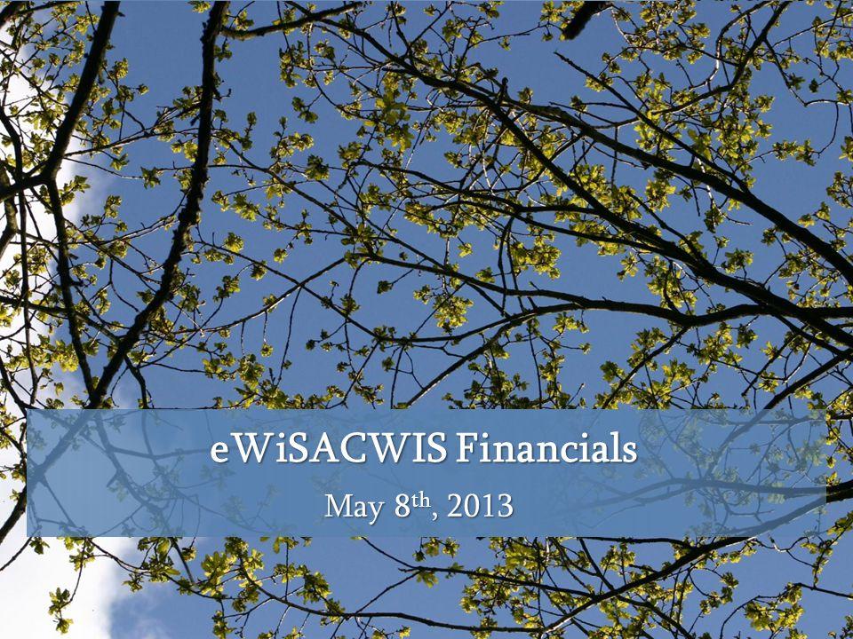 eWiSACWIS Financials May 8 th, 2013