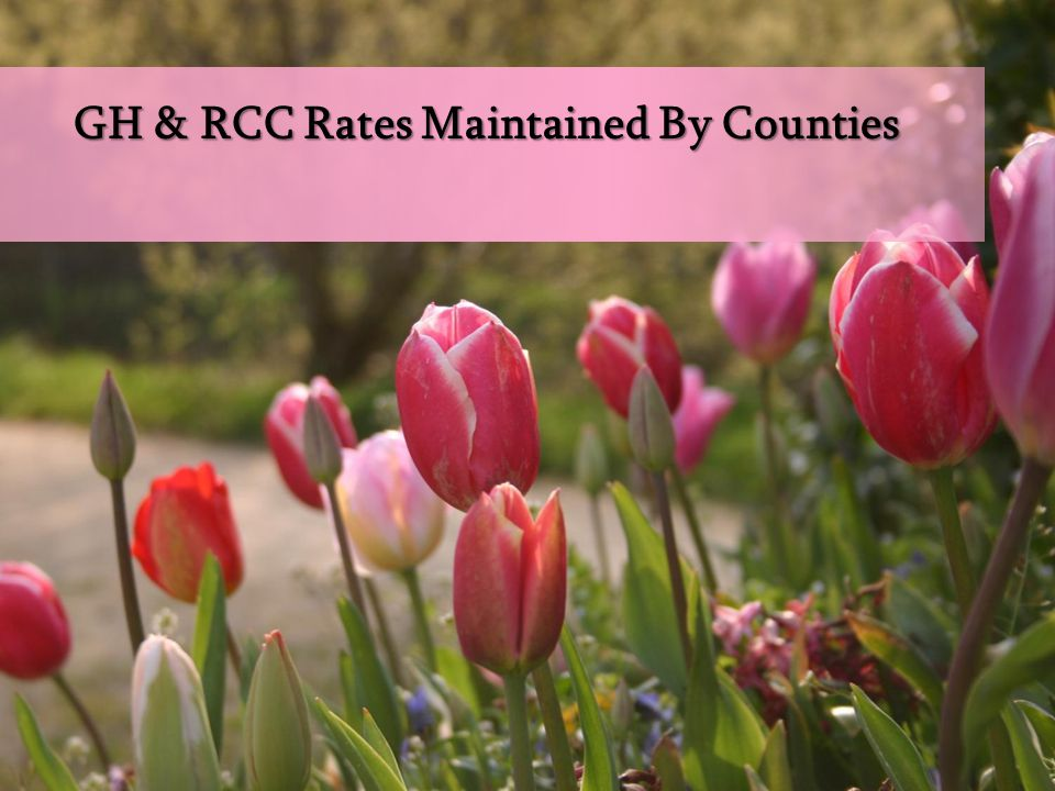 GH & RCC Rates Maintained By Counties