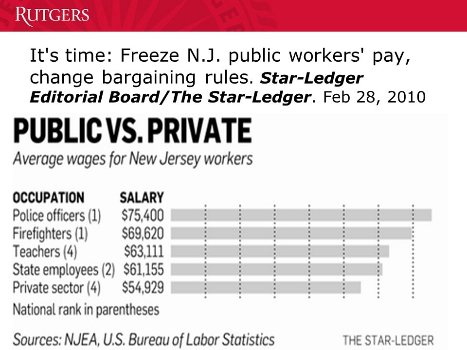 7 It s time: Freeze N.J. public workers pay, change bargaining rules.