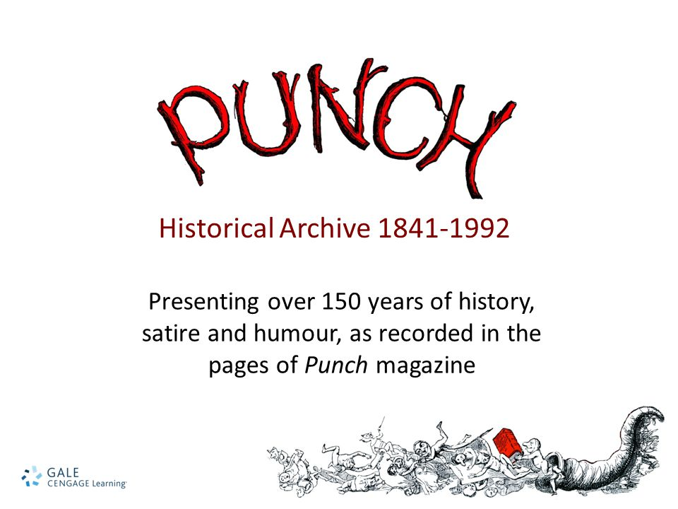 Presenting over 150 years of history, satire and humour, as recorded in the pages of Punch magazine Historical Archive 1841-1992