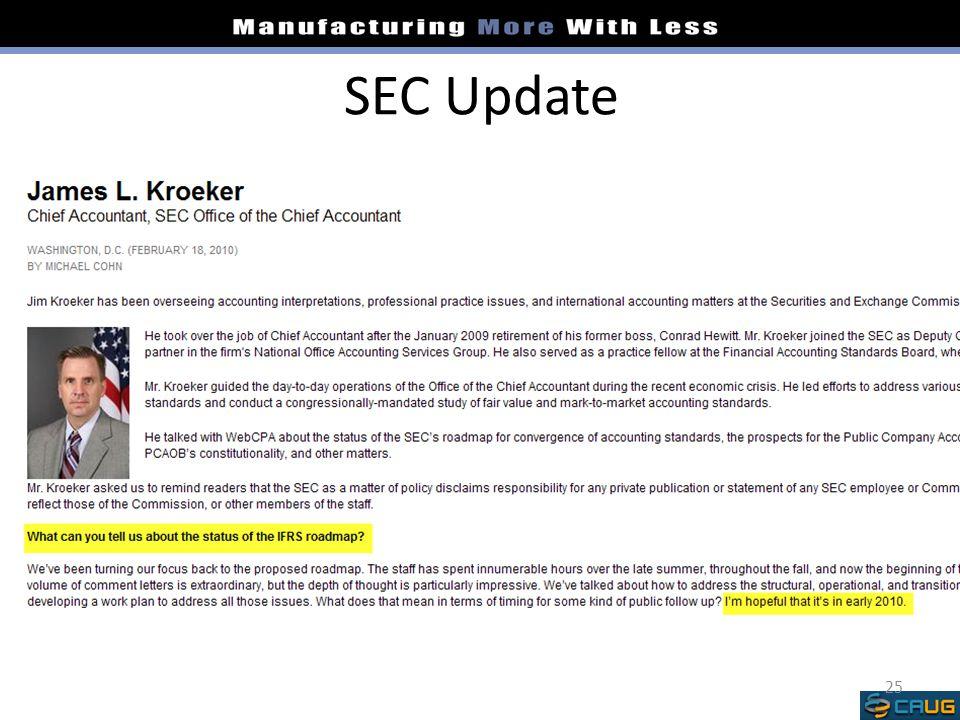 SEC Update 25