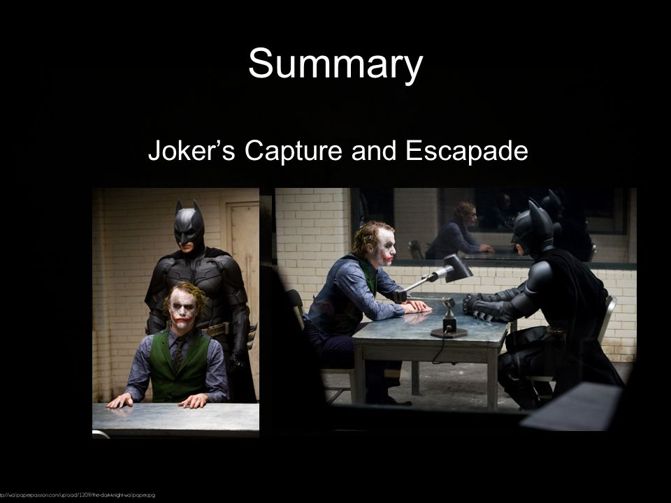 Summary Joker's Capture and Escapade