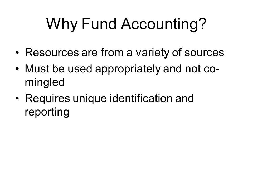 Why Fund Accounting.