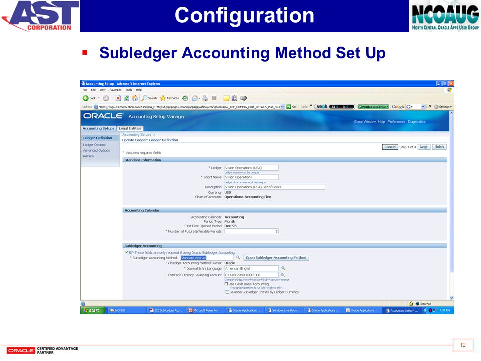 12 Configuration  Subledger Accounting Method Set Up