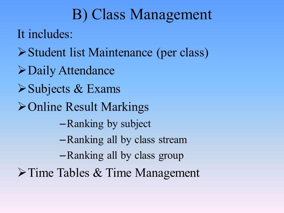 Class students list window