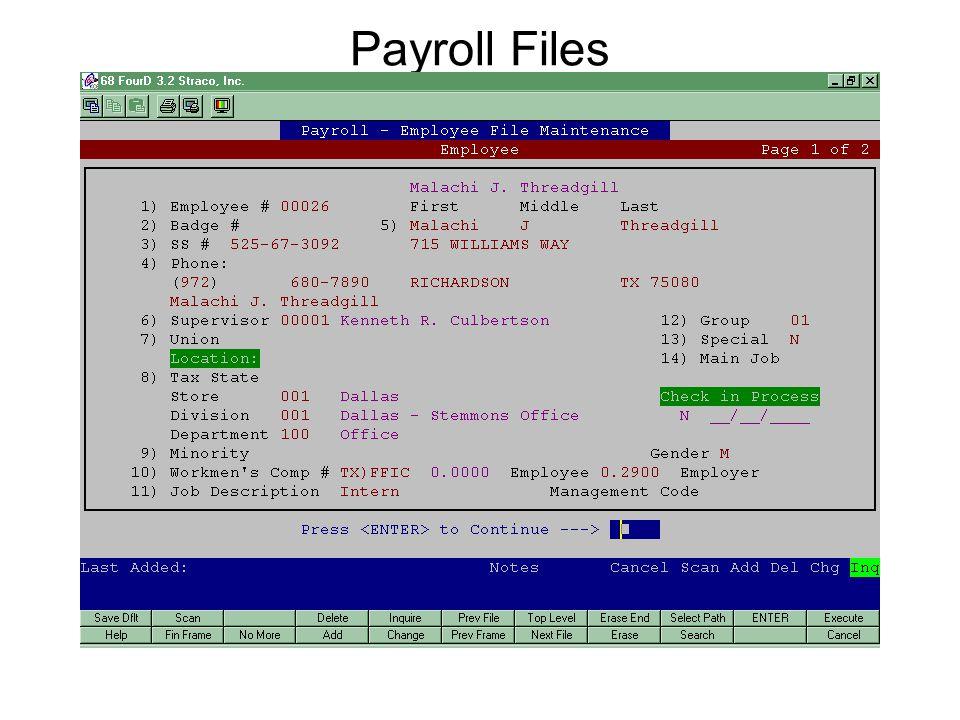 Payroll Files