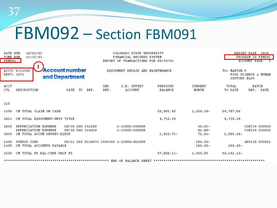 37 1 FBM092 – Section FBM091