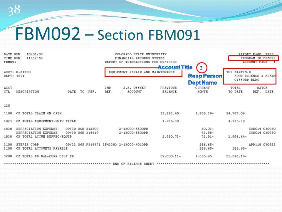 38 2 FBM092 – Section FBM091