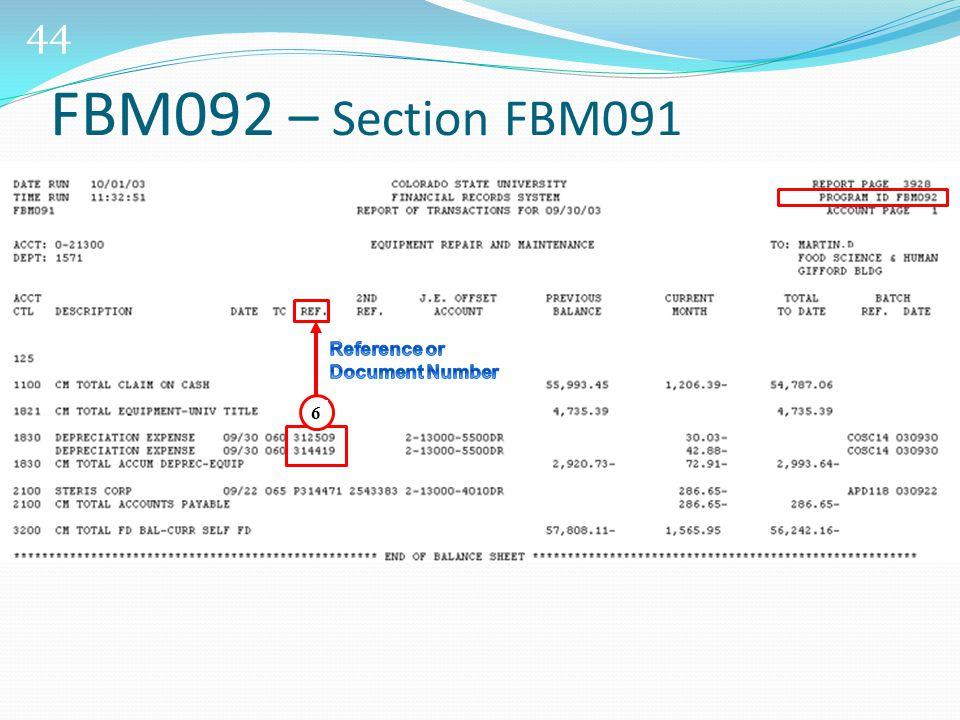 44 6 FBM092 – Section FBM091