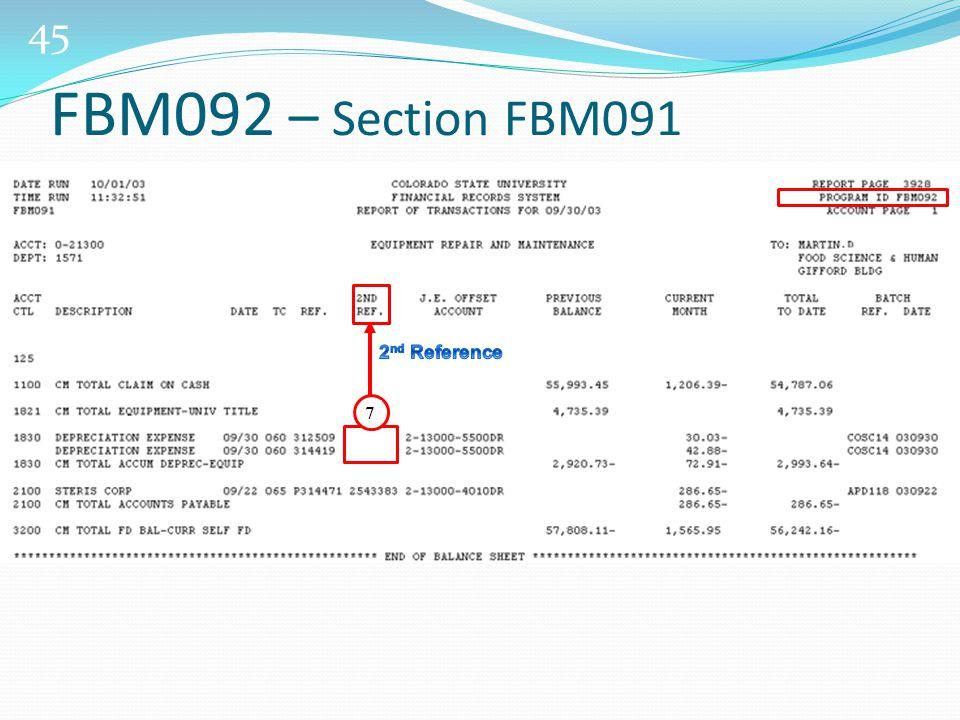 45 7 FBM092 – Section FBM091