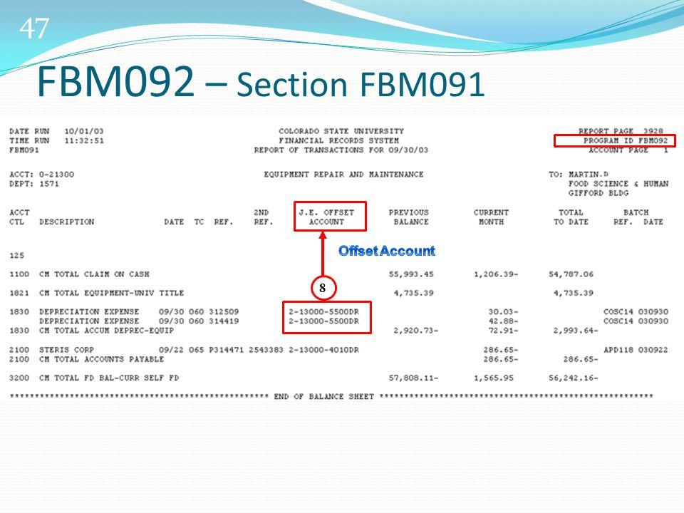 47 FBM092 – Section FBM091 8