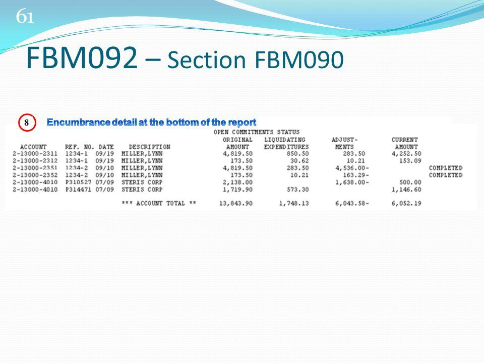 61 FBM092 – Section FBM090 8