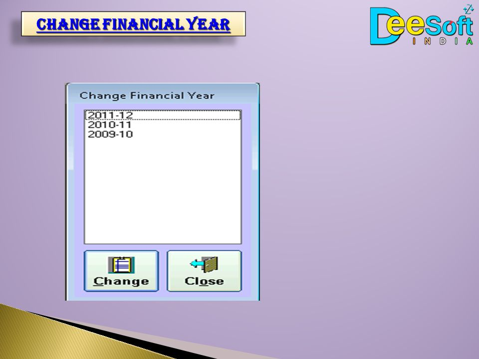 Change financial year