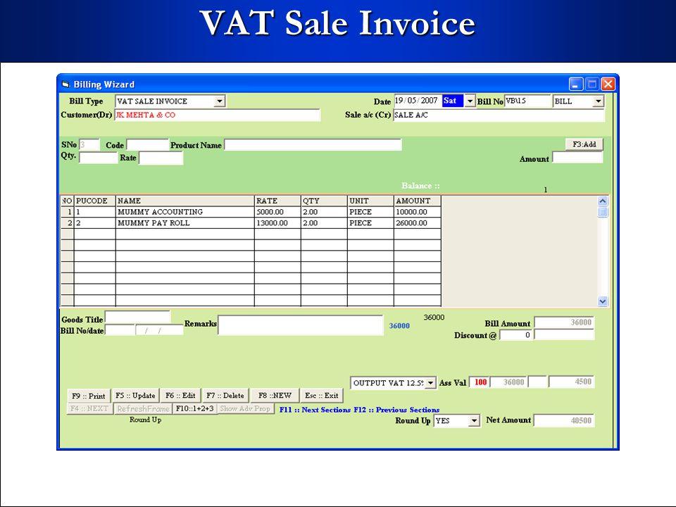 VAT Sale Invoice
