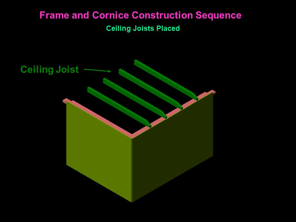 Ceiling Joist Frame and Cornice Construction Sequence Ceiling Joists Placed