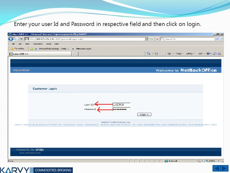 Click on arrow sign as given below CLIENT CAN CHANGE PASSWORD HERE