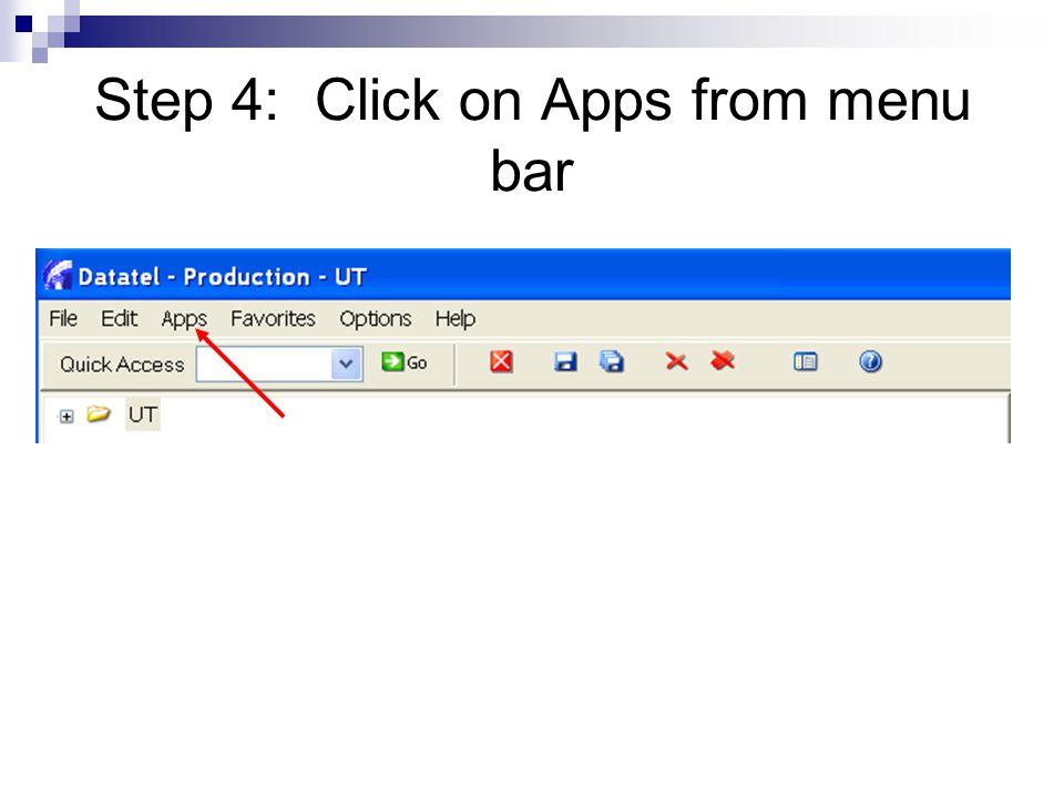 Step 5: Select CF from drop-down menu