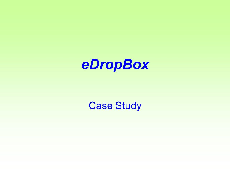 eDropBox Empowering SME s for Electronic Transactions