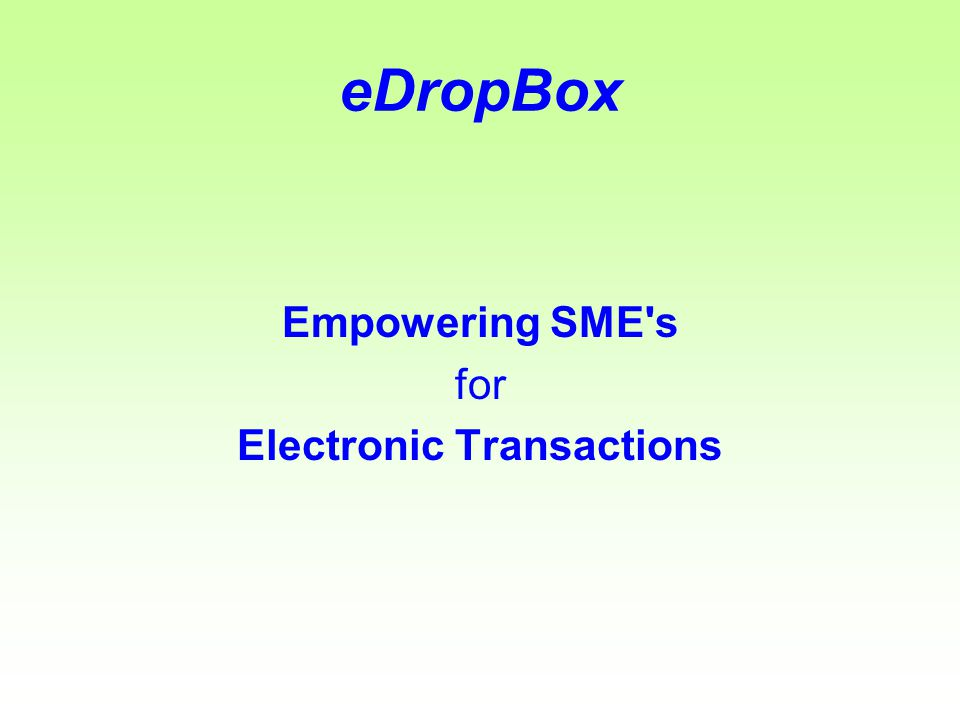 eDropBox By pressing the TAKE button and picking the right entry, the Voucher will appear on the credit side automatically filled as a complementary transaction for the debit entry sent by the Sender.