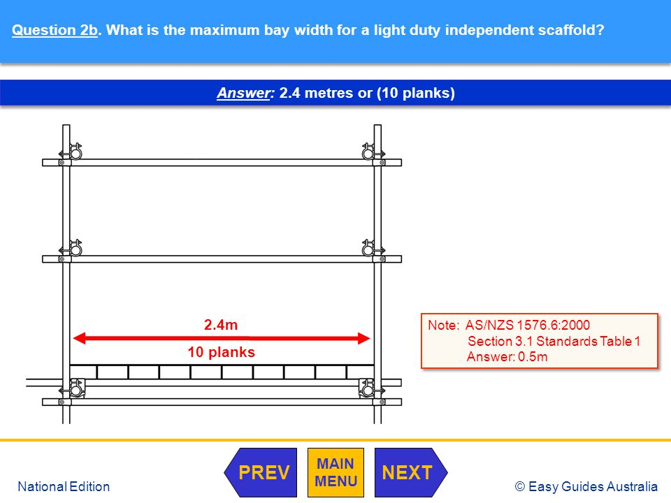 © Easy Guides Australia National Edition Question 3a.