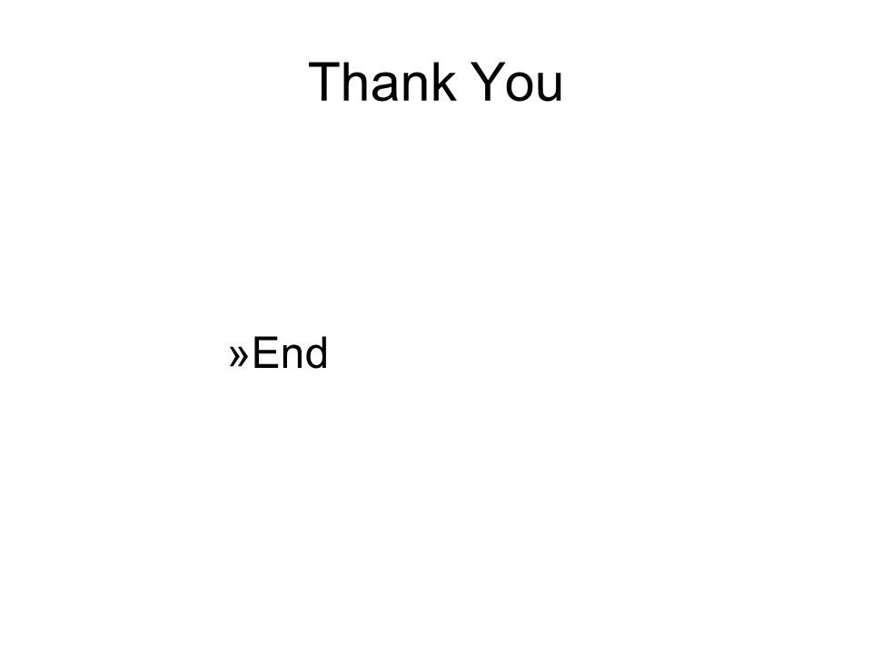 Thank You »End